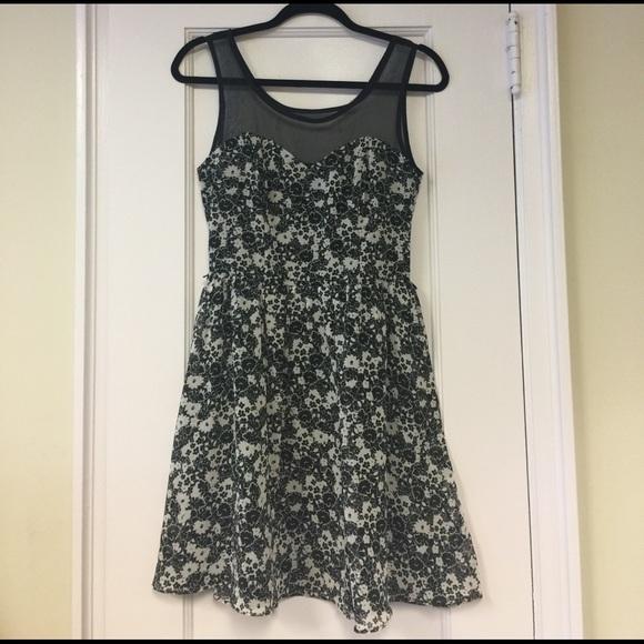 Lc Lauren Conrad Dresses Black White Floral Dress Poshmark