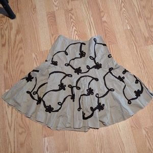 Sunny Leigh Dresses & Skirts - Sunny Leight Tan Brown Circle Skirt 6P Fit Flare M