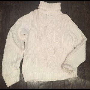 Lauren by Ralph Lauren Cable Turtleneck Sweater