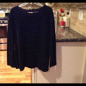 White Stag Tops - Size 20 black and silver top NWOT