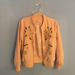 Authentic Original Vintage Style Jackets & Blazers - Vintage Embroidered Bomber Jacket