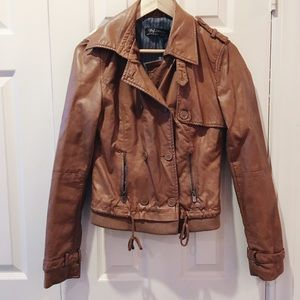 zara // faux leather moto jacket