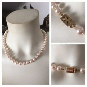 Monet Jewelry - Vintage MONET Faux Champagne Pearl Necklace