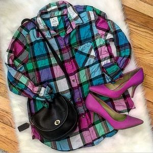American Eagle Outfitters Tops - American Eagle Outfitters Plaid Shirt, Size Med.