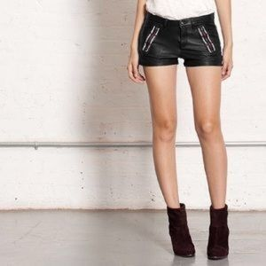 Rag and Bone leather shorts