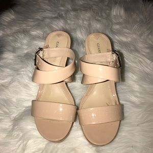Gianni Bini Shoes - Patent leather tan wedges