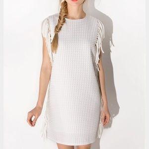English Factory Dresses & Skirts - White Fringe Dress - Size Small
