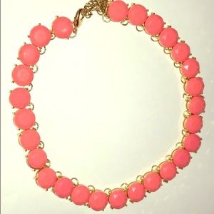 Vibrant coral pink statement necklace