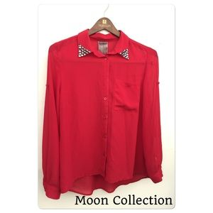 Moon Collection Tops - Moon Collection Long Sleeve Blouse