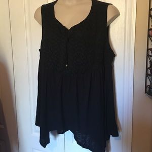 Halo Tops - Plus size lace top tank