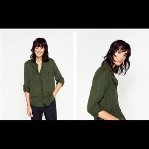 Zara Tops - Zara Military Style Shirt - XS