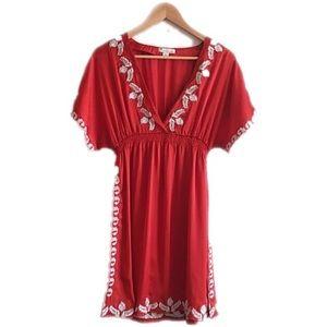 Twentyone Dresses & Skirts - Twentyone cherry red embroidered dress