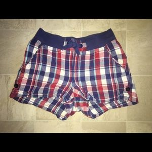 Red, White, and Blue Checkered Shorts Girls 14/16