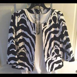 East 5th Jackets & Blazers - Animal print jacket