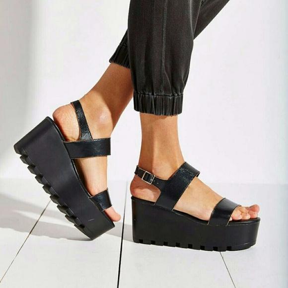 Shoes Black Platform Sandals Dsw Poshmark