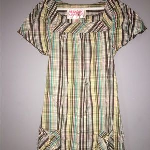 Mossimo Girls Plaid Dress SZ Large