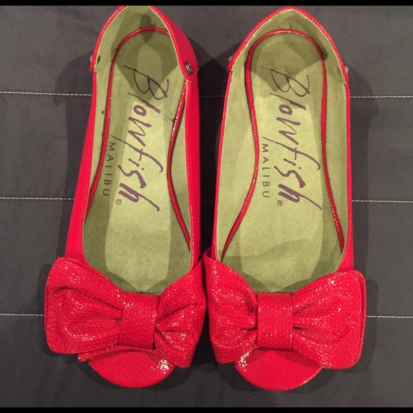 6e6f0025b5c3a Blowfish Shoes - !!SALE!! Blowfish Red bow peep toe flats