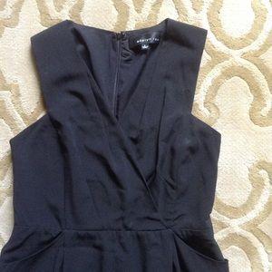 Black sheath dress with pockets