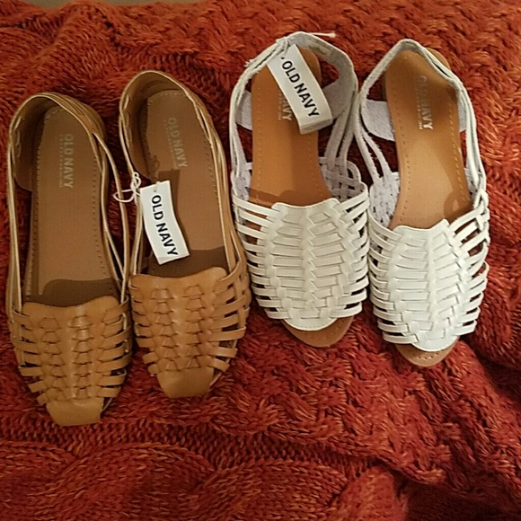 46c8ab4ca07d NWT Faux-Leather Huarache Sandals for Girls