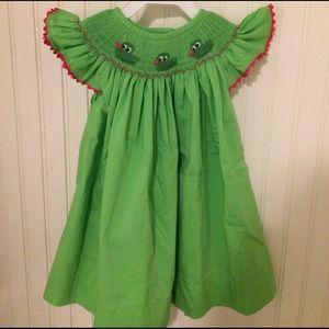 NOLA Smocked Other - 🐊Alligator smocked bishop dress