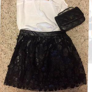 Dresses & Skirts - Gorgeous! Faux leather / sheer mini skirt