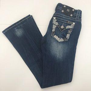 Miss Me Denim - Miss Me Jeans Bling Relaxed Boot - Medium Blue