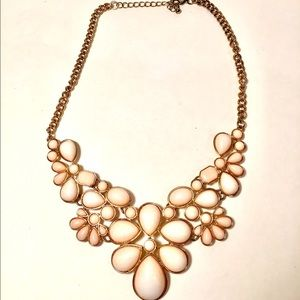 Baby Pink & Gold Statement Necklace