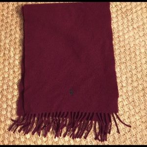 Polo by Ralph Lauren Other - Polo by Ralph Lauren Burgundy Wool Scarf