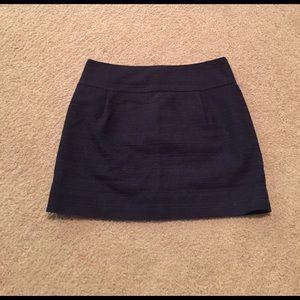 J. Crew Navy Skirt
