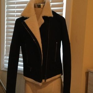 Neil Barrett Jackets & Blazers - Neil Barrett wool shearling biker jacket
