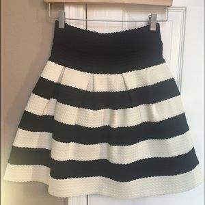 Anthropologie Girls From Savoy Stripe Skirt