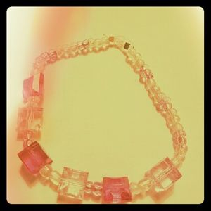 Other - Super cute Pink Square beaded Bracelet