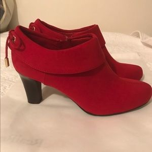 6f7038845a8a coach and four Shoes - Never worn Coach and a Four red suede booties