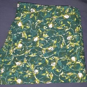 OS LuLaRoe green floral Leggings