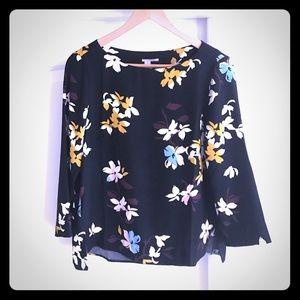 Flowers boat neck blouse Halogen