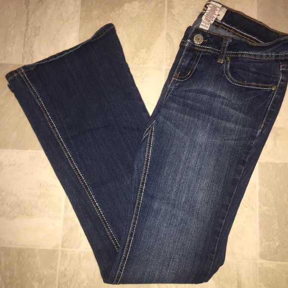 Denim - Juniors Sz 3 Boot Cut Distressed Jeans