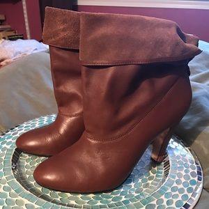 Ann Taylor Shoes - HP! SPRING SALE! Ann Taylor Cognac Booties, KILLER