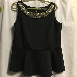 Black top with silver gems