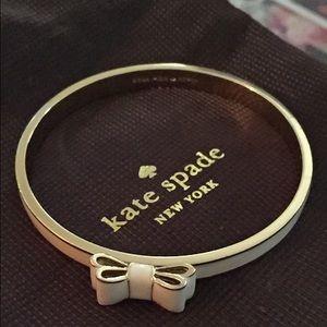 Kate Spade cream bow bangle