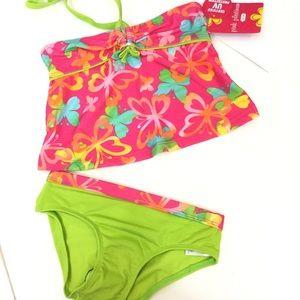 Pink Platinum Other - PINK PLATINUM New Girls Pink 5/6 2 piece Swim Suit