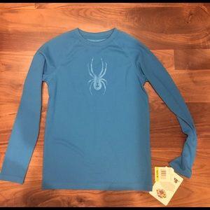 Spyder Other - Spyder Boys long sleeve dry web-electric blue