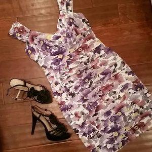 London Times Dresses & Skirts - London Times Flirty Floral Ruffle Dress Size 8