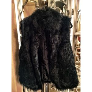 Fabulous Furs Jackets & Blazers - Black Faux Fur Vest by Fabulous Furs