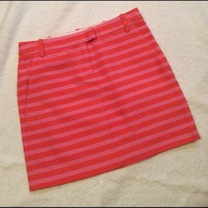 J.crew stripped mini skirts