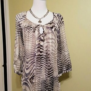 Sara Michelle  Tops - Sara Michelle top with 3/4 sleeves NWT