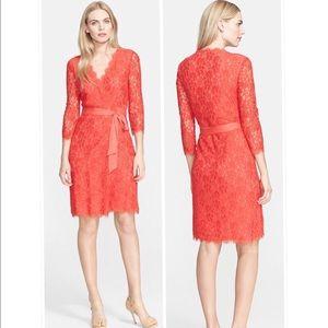 Diane von Furstenberg Dresses & Skirts - 🆕NWT Diane Von Furstenberg lace wrap dress SZ 0