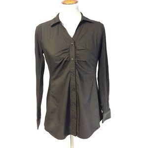 Motherhood Maternity Black Button Up Blouse Small