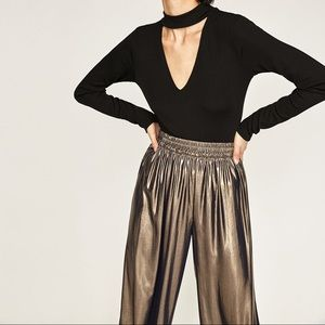 Zara Metallic Trousers