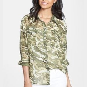 Two by Vince Camuto Tops - Two by Vince Camuto Camouflage Blouse