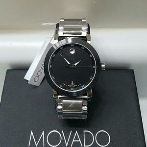Movado  Other - NWT Movado Men's black dial Stainless steel watch